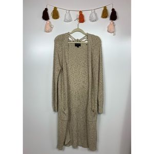 Absolutely Creative Worldwide Tan Duster Cardigan